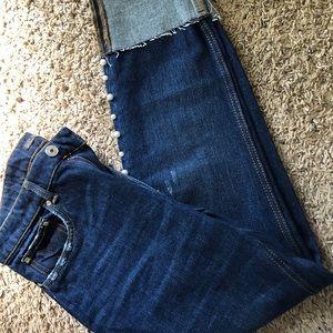 ZARA Trafaluc Pearl Studded Jeans size 6US